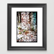 Building 9, abstracted Framed Art Print
