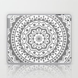 Mandala #3 (gray) Laptop & iPad Skin