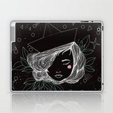 Paper boat girl Laptop & iPad Skin
