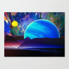A Sunday Afternoon On The Island Of A Distant Planet Canvas Print