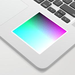 Six Color Ombre Cyan, Purple, Green, Pink, Purple, Blue, Spectrum Flame Sticker