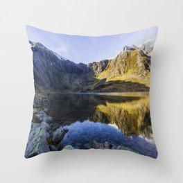Lake Idwal Throw Pillow