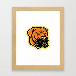Bullmastiff Dog Mascot Framed Art Print