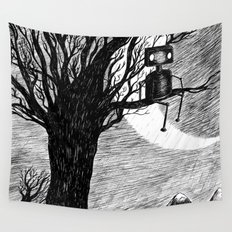 Lonely Robot Wall Tapestry