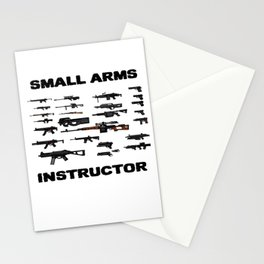 small arms lover and weapons instructors gift idea Stationery Cards