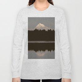 Mount Hood Reflection Long Sleeve T-shirt