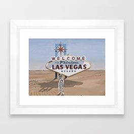 Leaving Las Vegas Framed Art Print