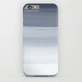 Touching Midnight Blue Watercolor Abstract #1 #painting #decor #art #society6 iPhone Case