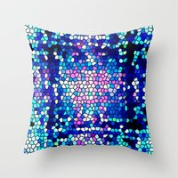 pool Throw Pillows featuring pool by mari3000