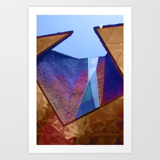 Angles in Barcelona Art Print