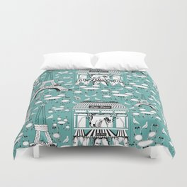 Paris cafe Duvet Cover