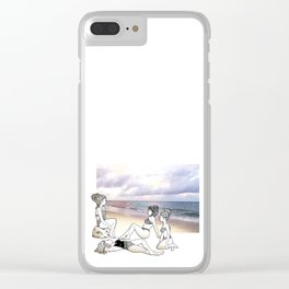 Girlfriends at the Beach Clear iPhone Case