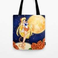 sailor venus Tote Bags featuring Sailor Venus by HaruShadows