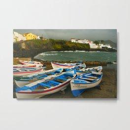 Portuguese harbour Metal Print