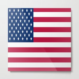 Flag of USA - American flag, flag of america, america, the stars and stripes,us, united states Metal Print