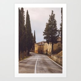 These endless roads Art Print