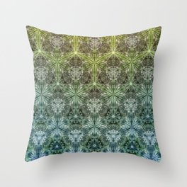 Forest Lake. sacred geometry. seamless pattern Throw Pillow
