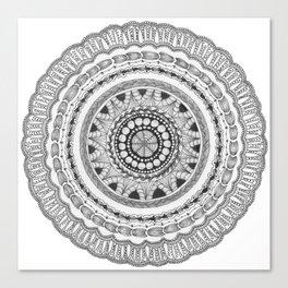Zendala - Zentangle®-Inspired Art - ZIA 16 Canvas Print