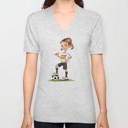 Soccer Girl Unisex V-Neck
