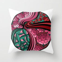 Floral Unity Throw Pillow