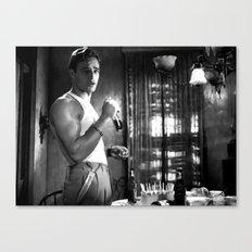 Marlon Brando as Stanley Kowalski  in the film A Streetcar Named Desire (Elia Kazan - 1951) Canvas Print