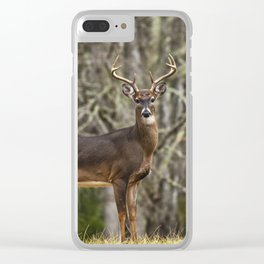 White Tailed Deer Eight Point Buck Clear iPhone Case