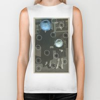 pills Biker Tanks featuring Human Pills by Naomi Vona