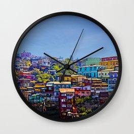 Cerro Artilleria, Valparaiso, Chile Wall Clock