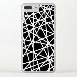Lazer Dance B&W 1 Clear iPhone Case