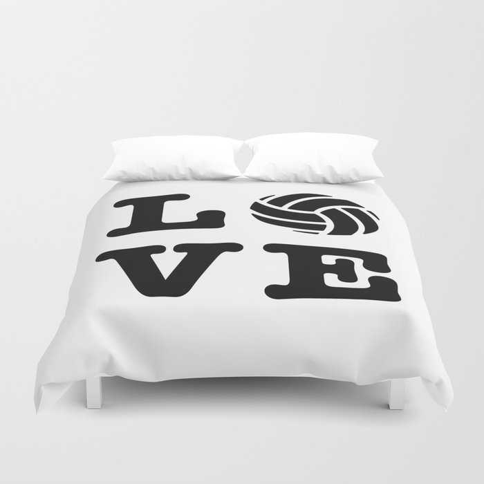 I Love Volleyball Duvet Cover