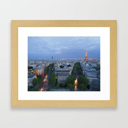 Twilight In Paris Framed Art Print