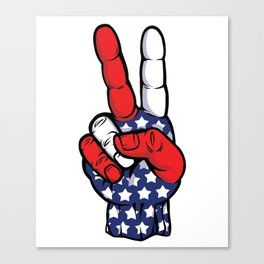Peace Out, USA! Canvas Print