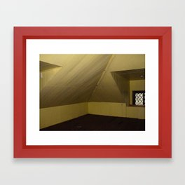 yellow house Framed Art Print
