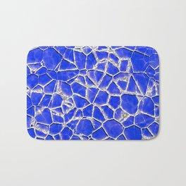 Blue broken glass texture Bath Mat