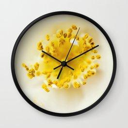 White camellia Wall Clock
