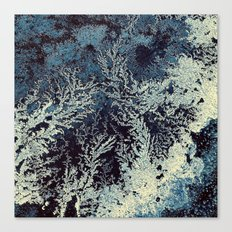 road salt abstract Canvas Print