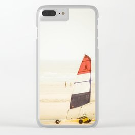 Sand yachting trio Clear iPhone Case