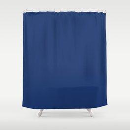 Blue Navel Shower Curtain