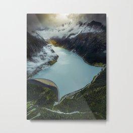 Hidden lake in Austrian Alps Metal Print