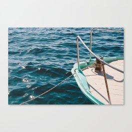 BOAT - WATER - SEA - PHOTOGRAPHY Canvas Print