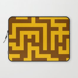 Amber Orange and Chocolate Brown Labyrinth Laptop Sleeve