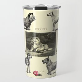 TERRIER DOG Illustration Travel Mug
