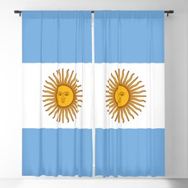 Argentina Flag Blackout Curtain