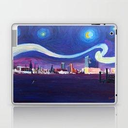 Starry Night in Hamburg   Van Gogh Inspirations in Hamburg Harbour with Elbe Philharmonic Hall Laptop & iPad Skin