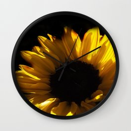 blossoms on black background -06- Wall Clock