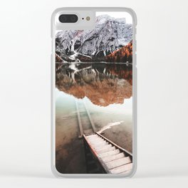 braies lake in Trentino Clear iPhone Case