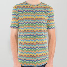 Retro Wave All Over Graphic Tee