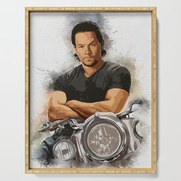 Mark Wahlberg Portrait Serving Tray