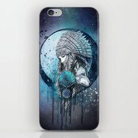 dreamcatcher iPhone & iPod Skins featuring Dreamcatcher by Marine Loup