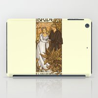 mucha iPad Cases featuring Bride by Karen Hallion Illustrations